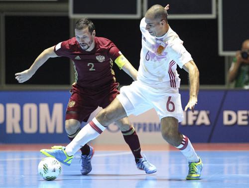 Вматче 1/8 финала испанцы обыграли команду Казахстана срезультатом 5:2